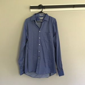 Men's blue button down